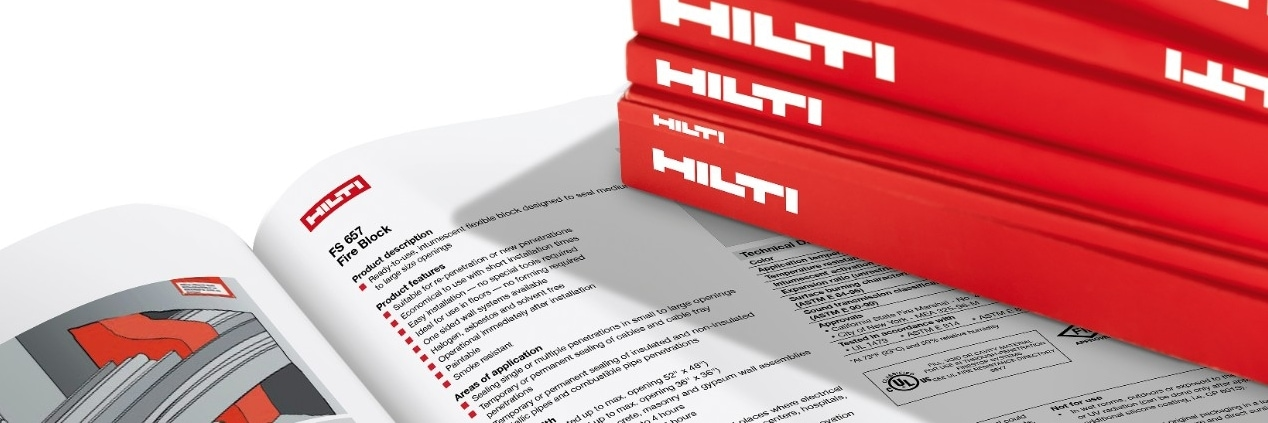 Hilti firestop technical literature